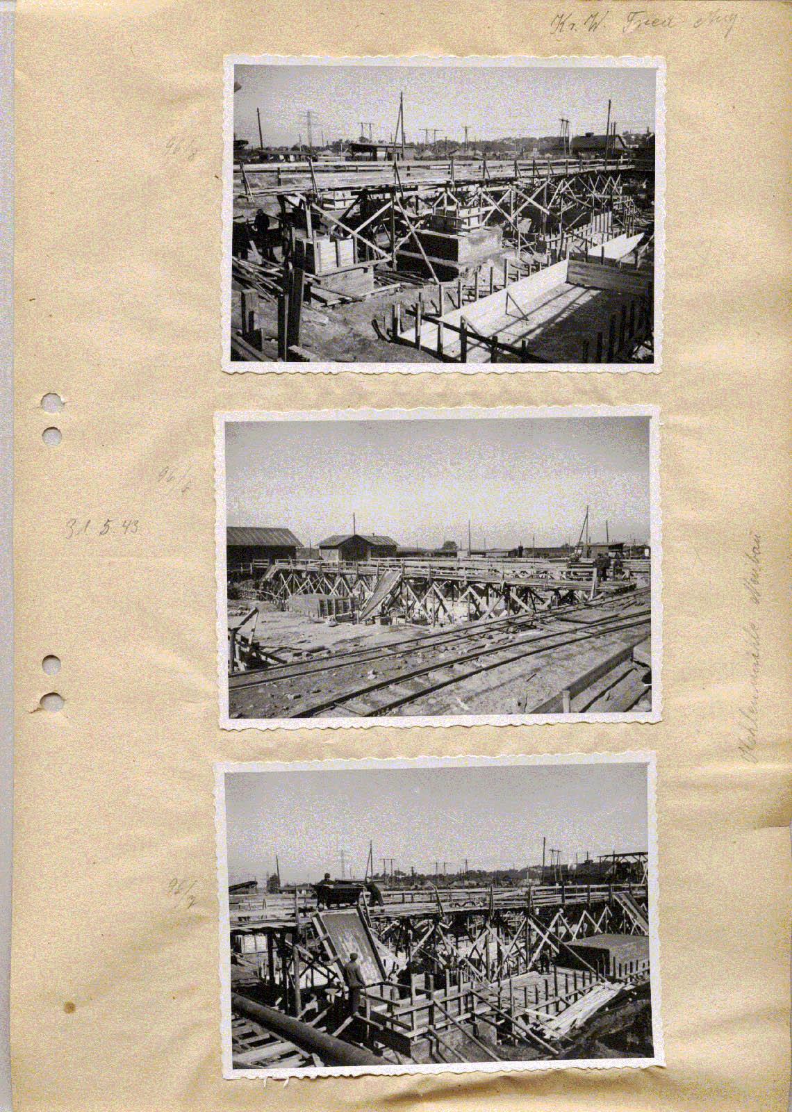 Friedrich-August mine and Kraftwerk Friedrich-August construction. 1943 Muzeum w Jaworznie