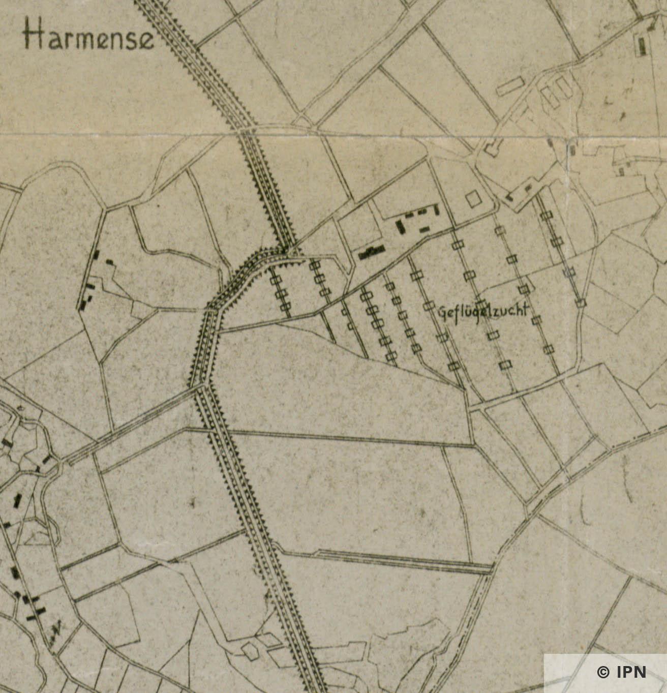 Geflügelfarm Harmense from the Plan vom Interessengebiet des KL Auschwitz. 15 January 1943. IPN GK 196 101 0031