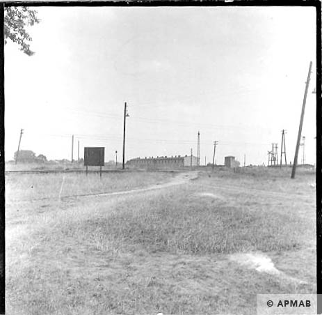 General view of sub camp from the railway. 1963 APMAB 5667