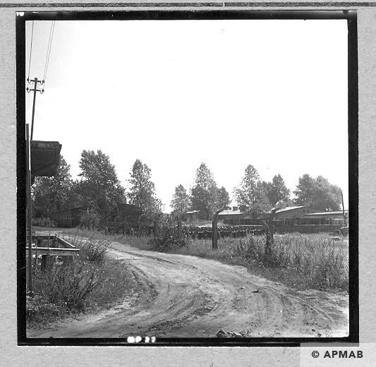 General view of the sub camp visible from the level crossing. 1967 APMAB 11031