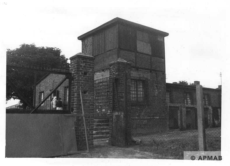 Guard tower and main gate. 1960 APMAB 21304 1