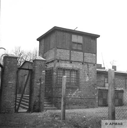 Guard tower next to main gate. 1959 APMAB 4410