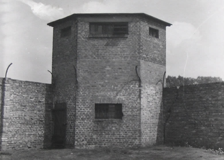 Guard tower photo taken in the 1960s before the top half was demolished