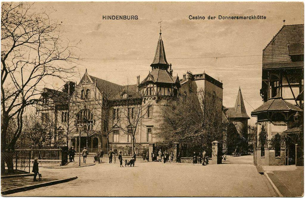 Hindenburg Casino Donnersmarkhütte 1921. Andreas Dutkiwicz