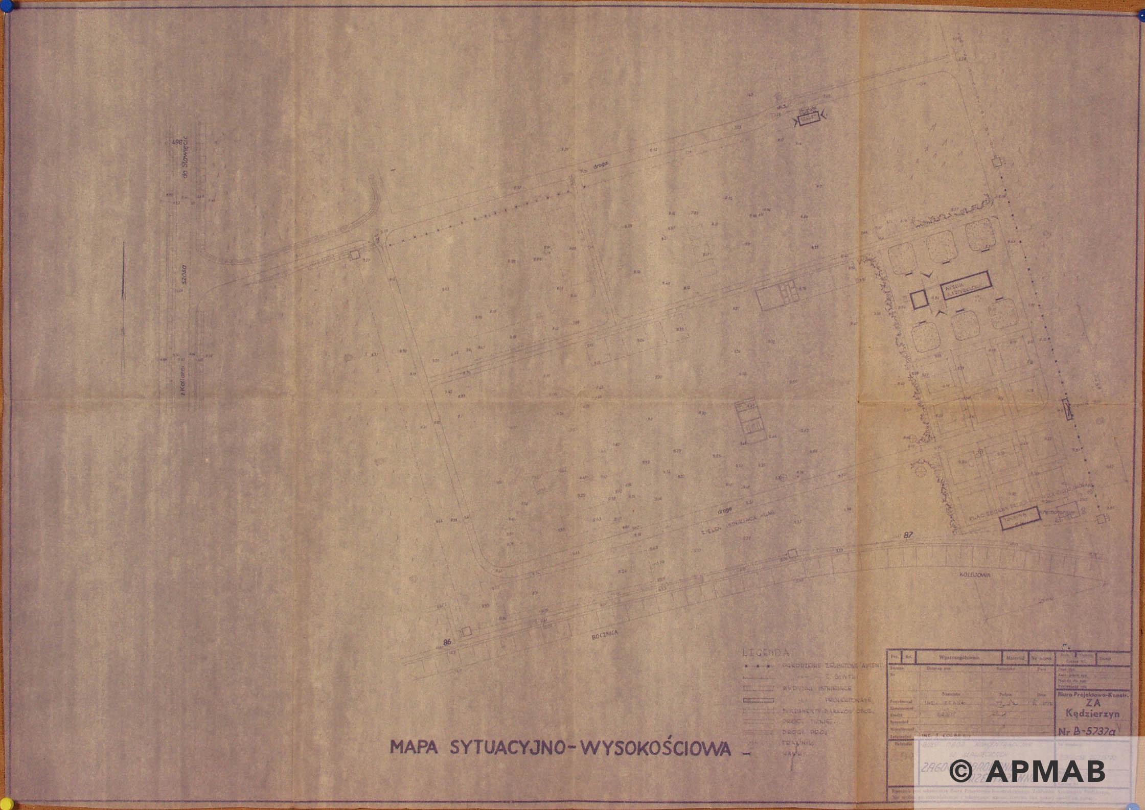 Hydrierwerke plan. APMAB