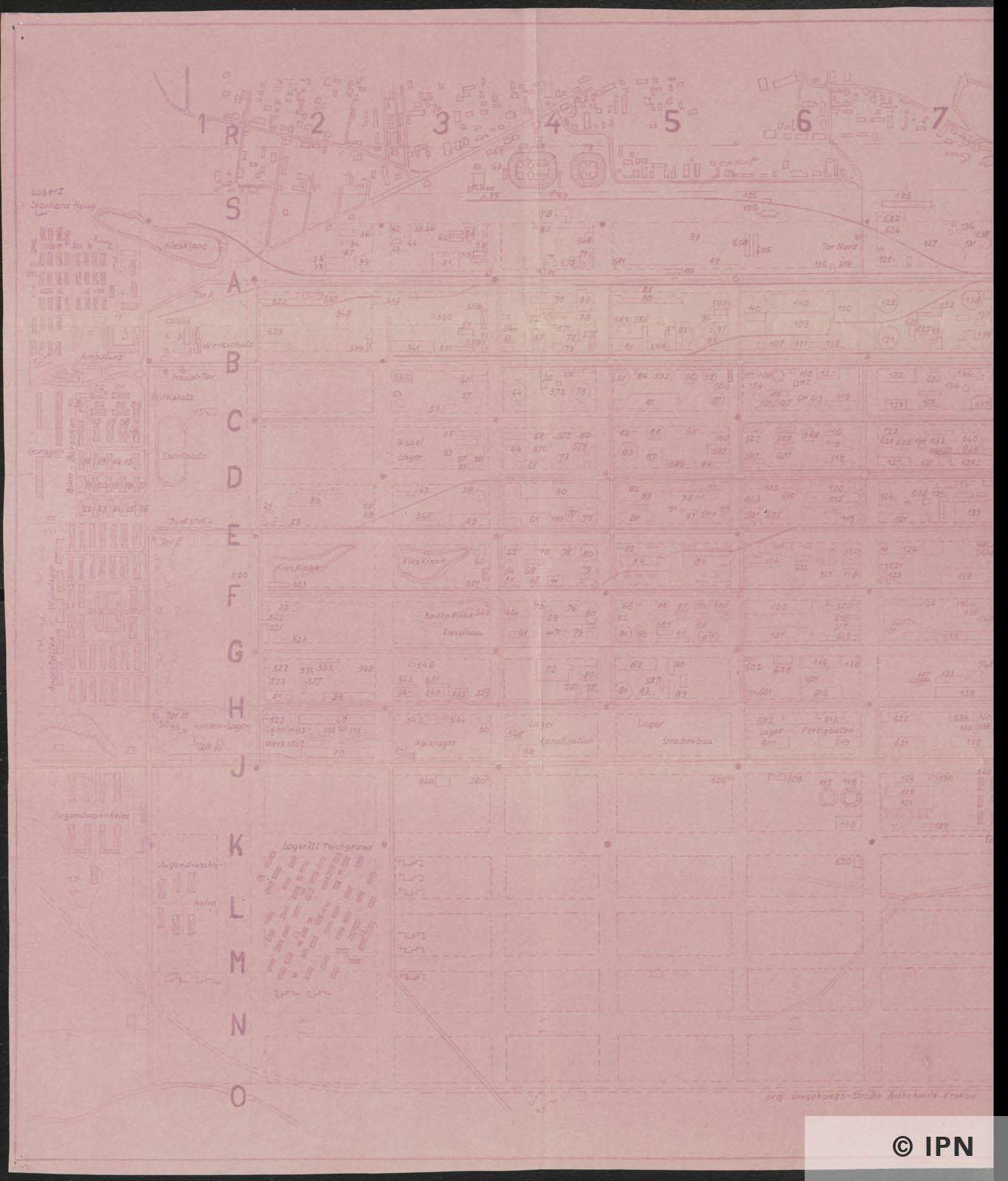 IG Farben AG Werk Auschwitz Plan. 20 August 1944 IPN GK 196 101 0040