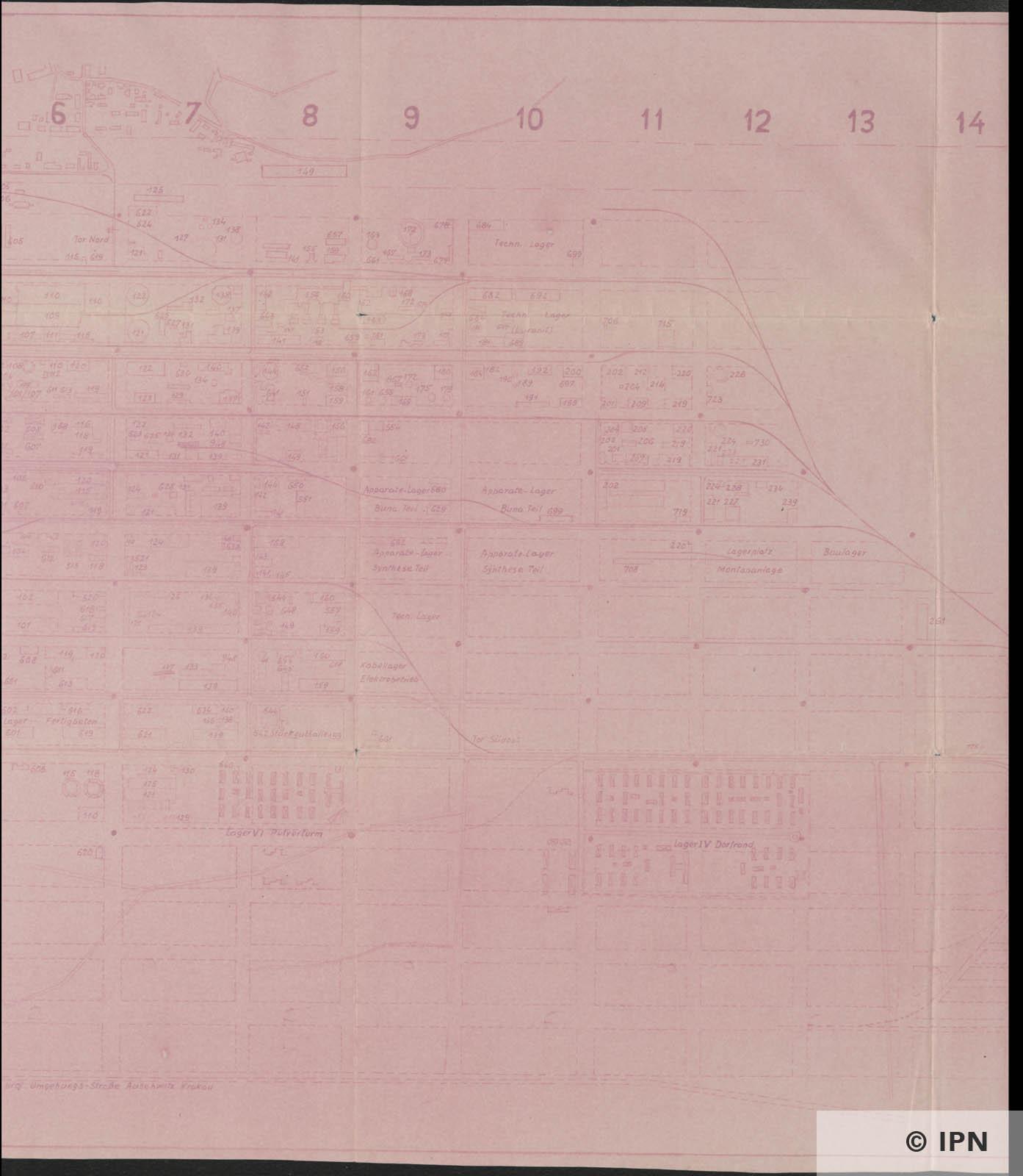 IG Farben AG Werk Auschwitz Plan. 20 August 1944 IPN GK 196 101 0041