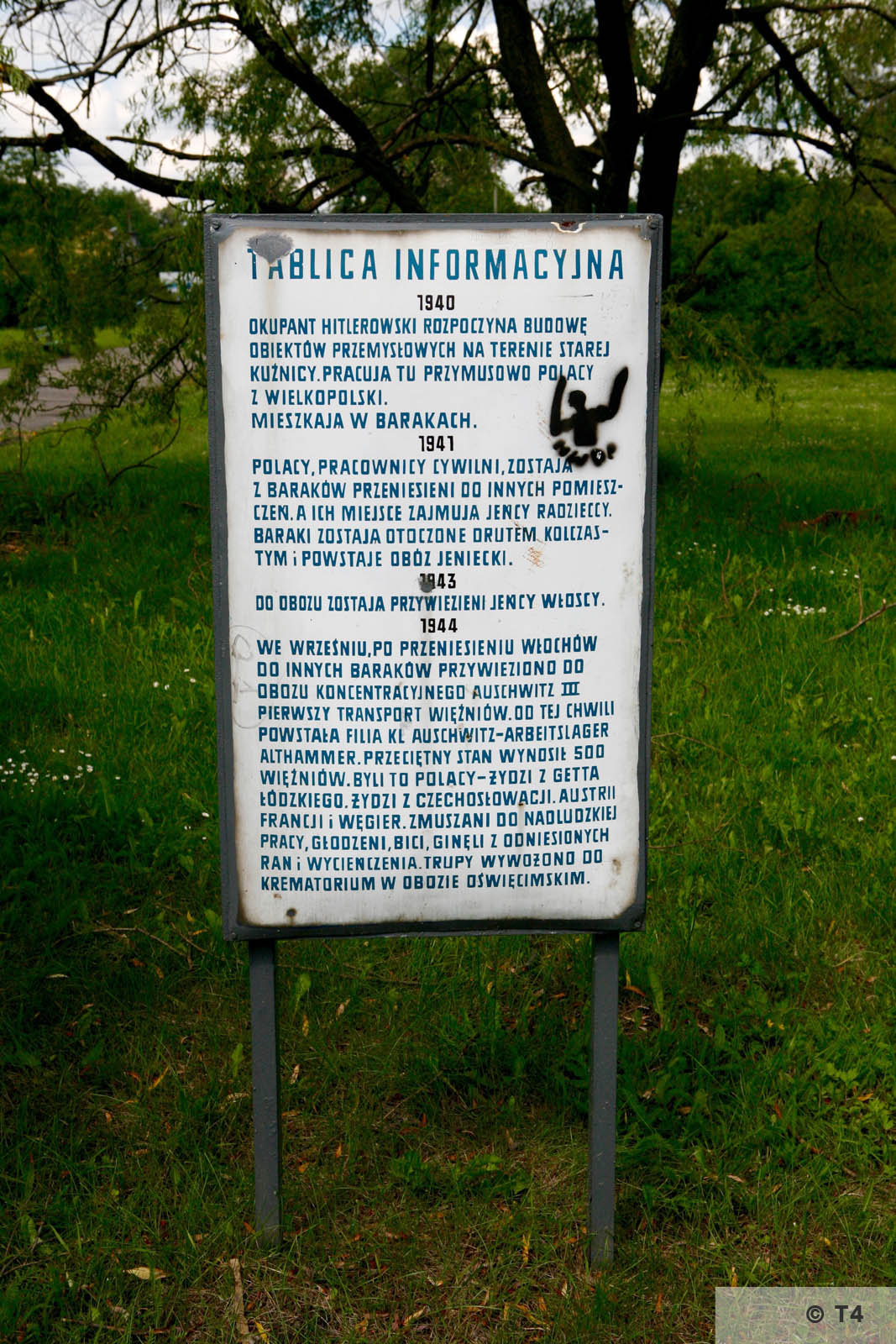 Information table on the area of the former sub camp. 2006 T4 6165