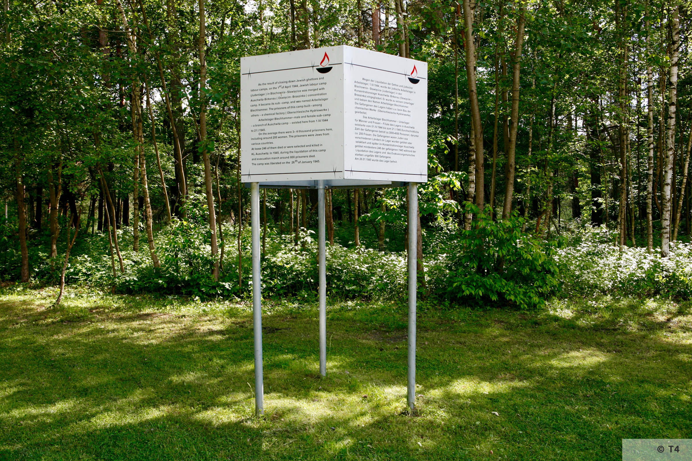 Information tablet on the area of the former sub camp. 2006 T4 5479