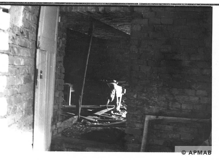 Inside of cellar where prisoners lived. 1967. APMAB 14003
