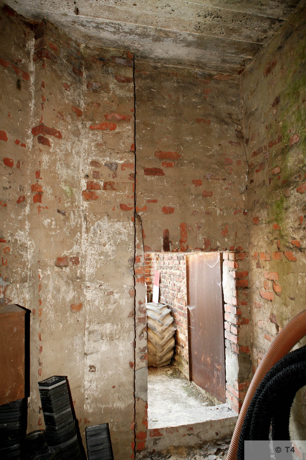 Inside of guard tower in South East corner of former sub camp. 2006 T4 6863