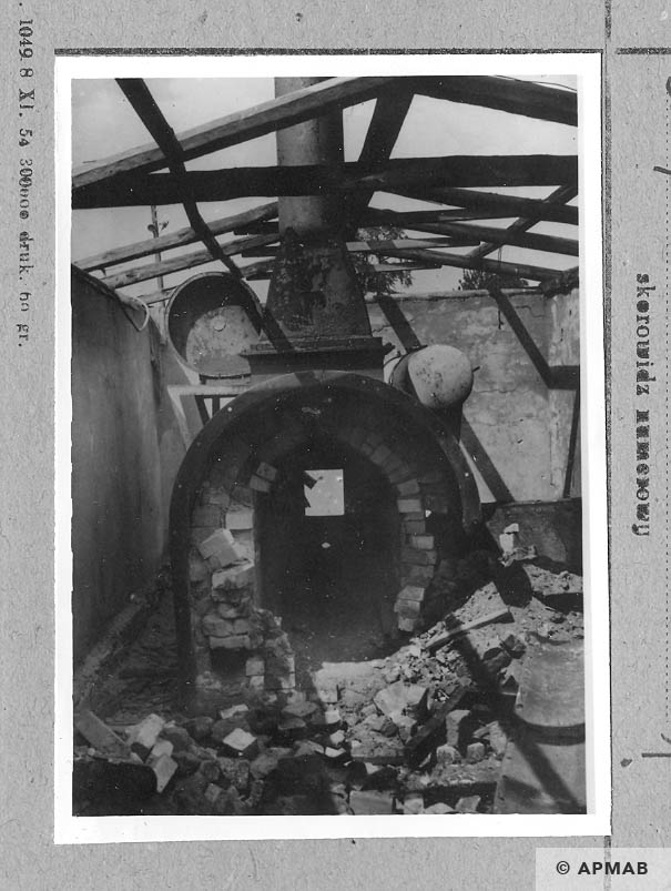 Inside of the crematorium. APMAB 6685