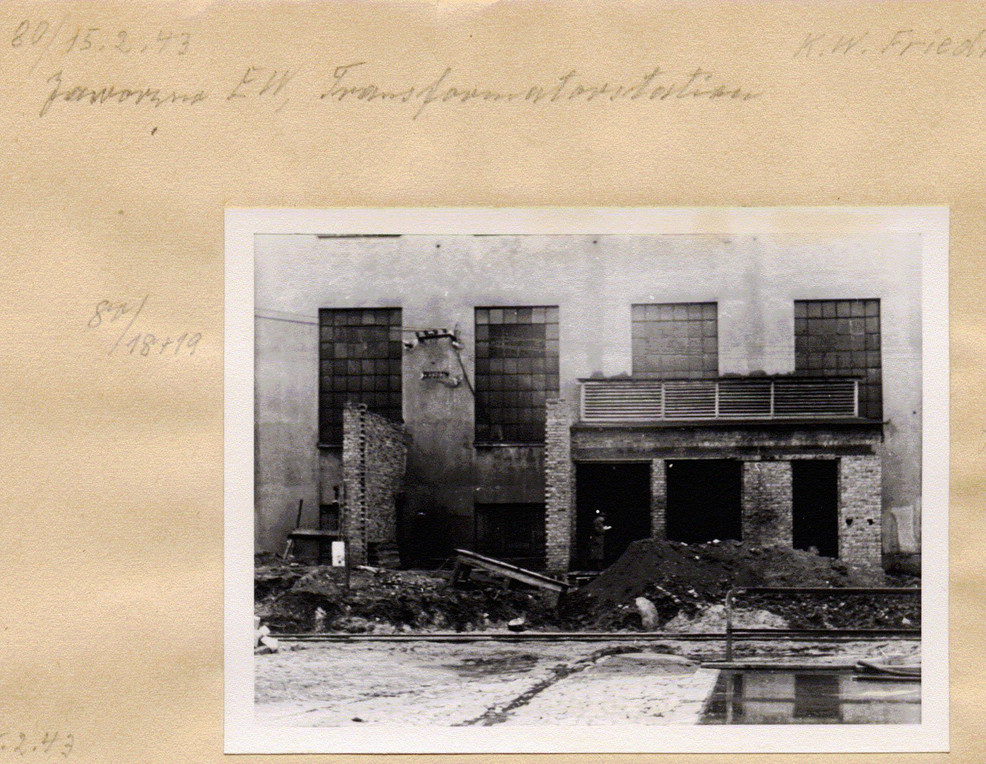 Kraftwerk Friedrich-August 15. 1943 Muzeum w Jaworznie