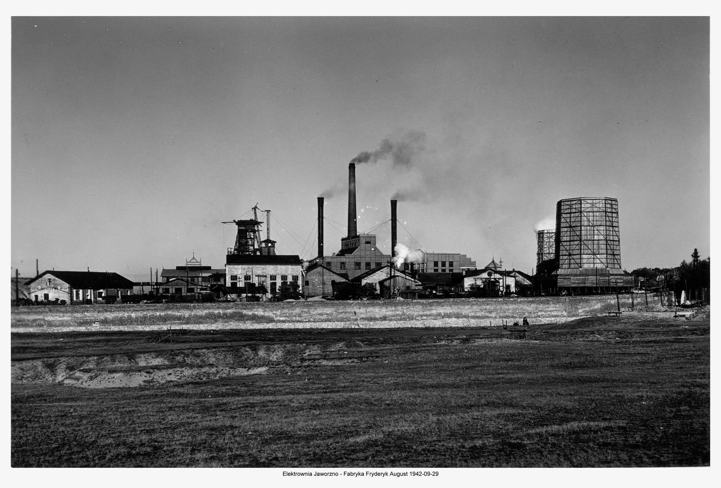 Kraftwerk Friedrich-August and mine. 1942. Muzeum w Jaworznie