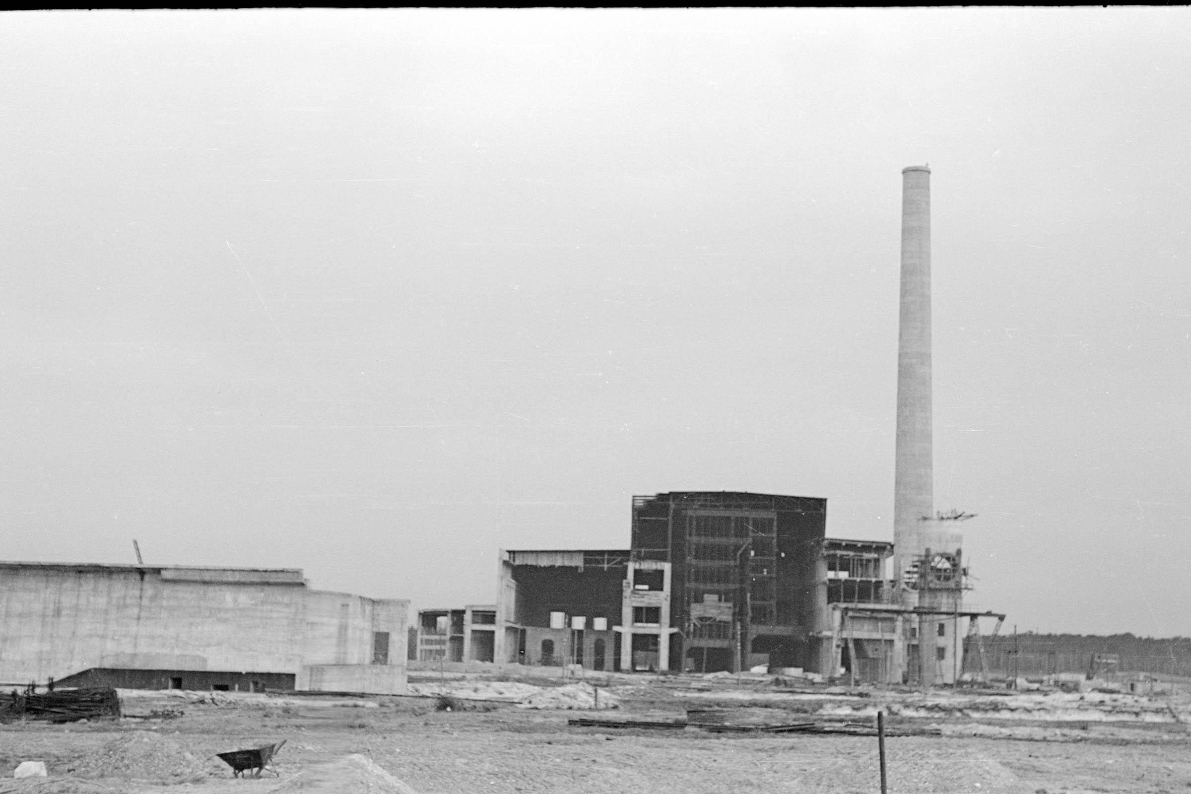 Kraftwerk Wilhelm under construction. 1 Muzeum w Jaworznie