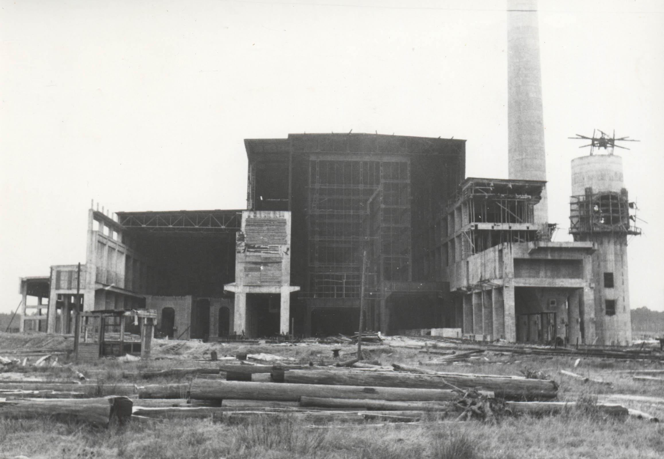 Kraftwerk Wilhelm under construction. 2 Muzeum w Jaworznie