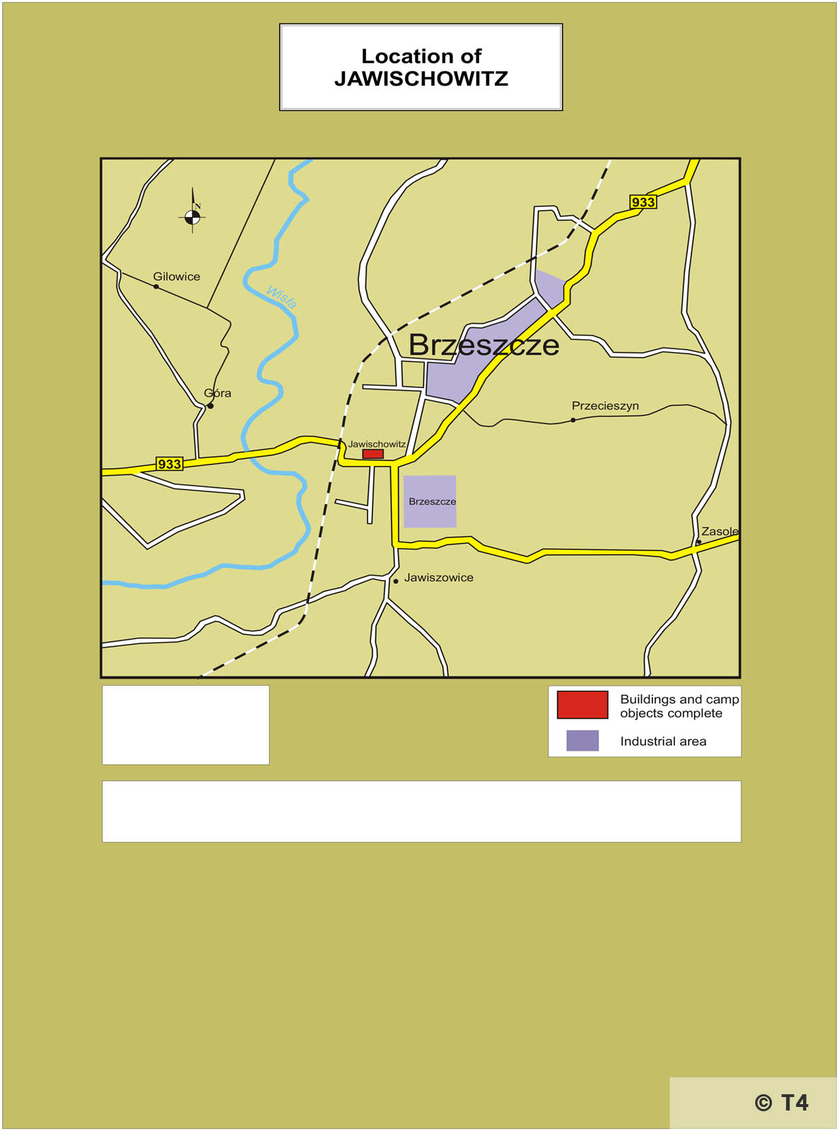 Location of Jawischowitz. T4