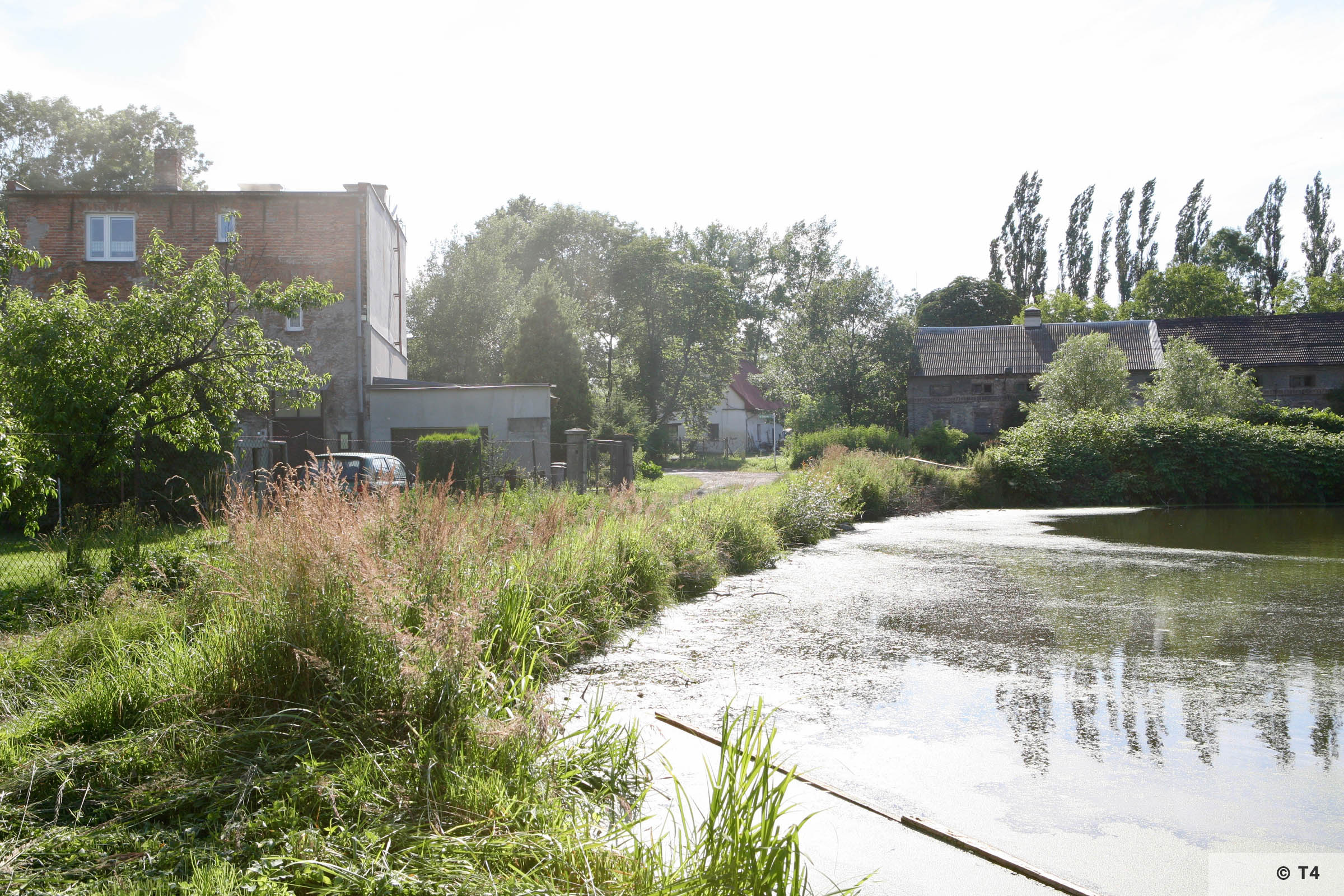 Looking towards the area of the former sub camp. Residential buildings on the left. 2007 T4 9387