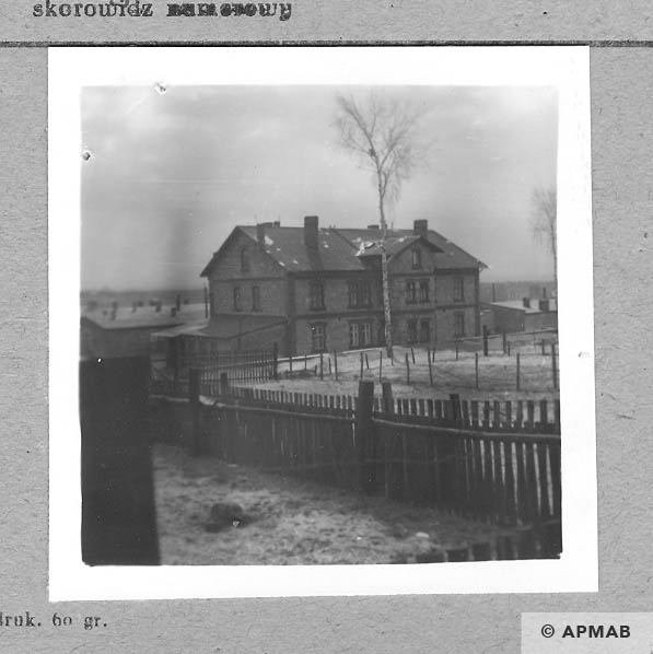 Main administrative building, barracks in the background.1959 APMAB 4388