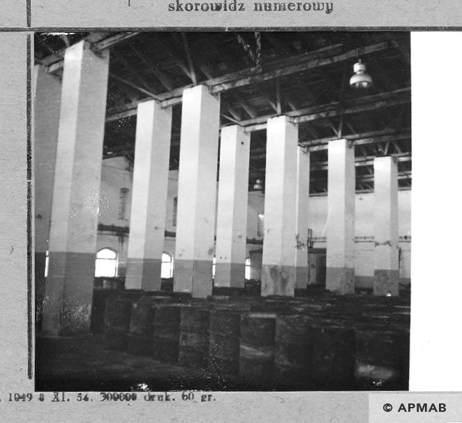 Main workshop where prisoners worked. 1966 APMAB 10176