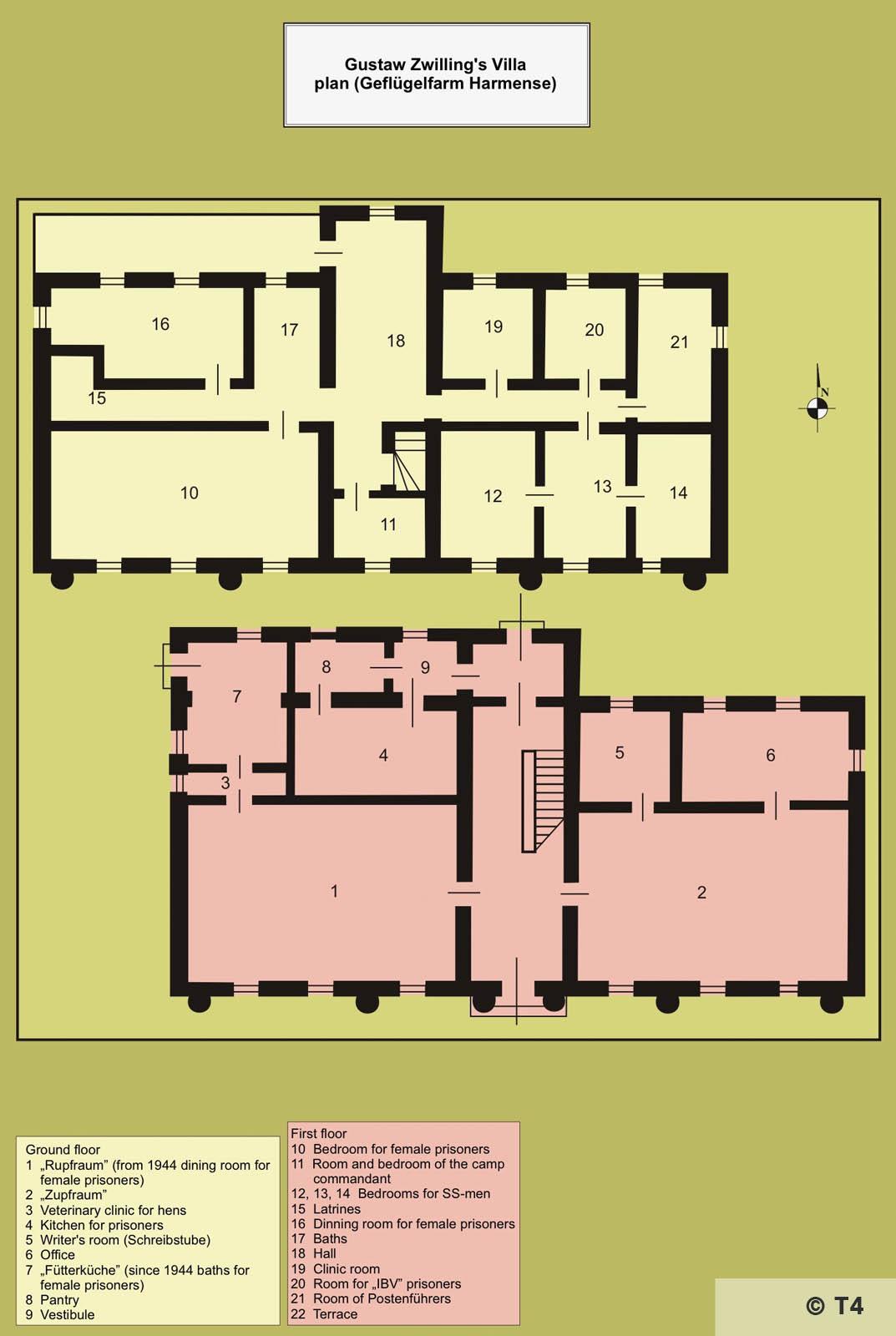 Map fomrer Gustav Zwilling villa. T4