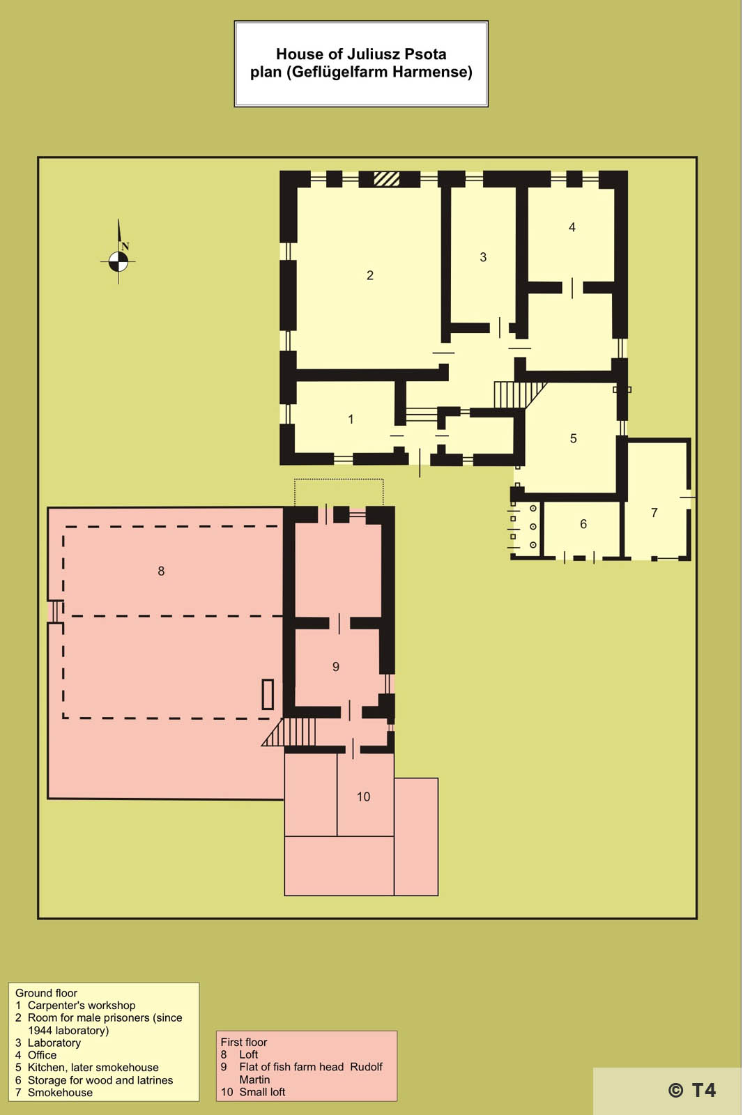 Map former Julius Psota house. T4