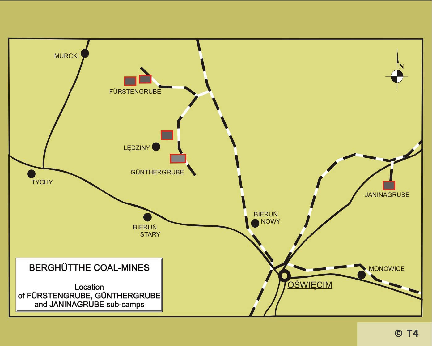 Map of Berghütte coal mines. T4