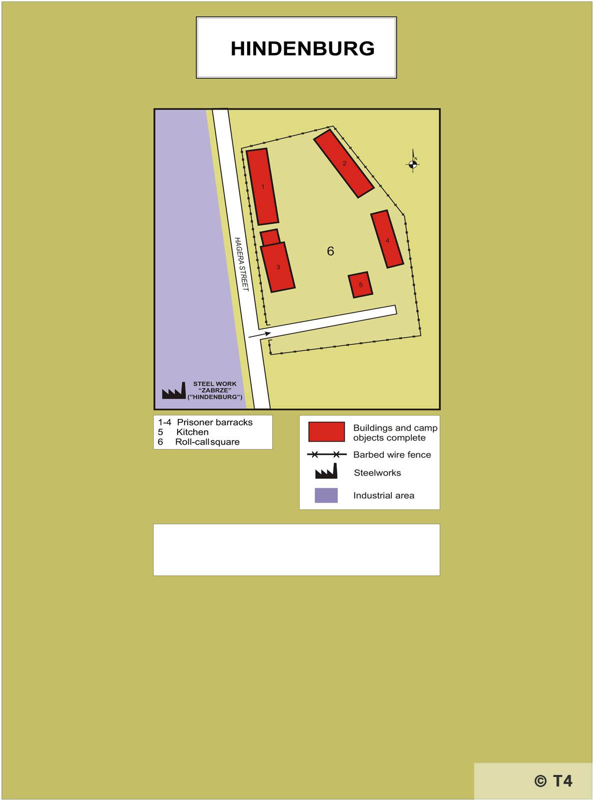 Map of Hindenburg sub camp. T4