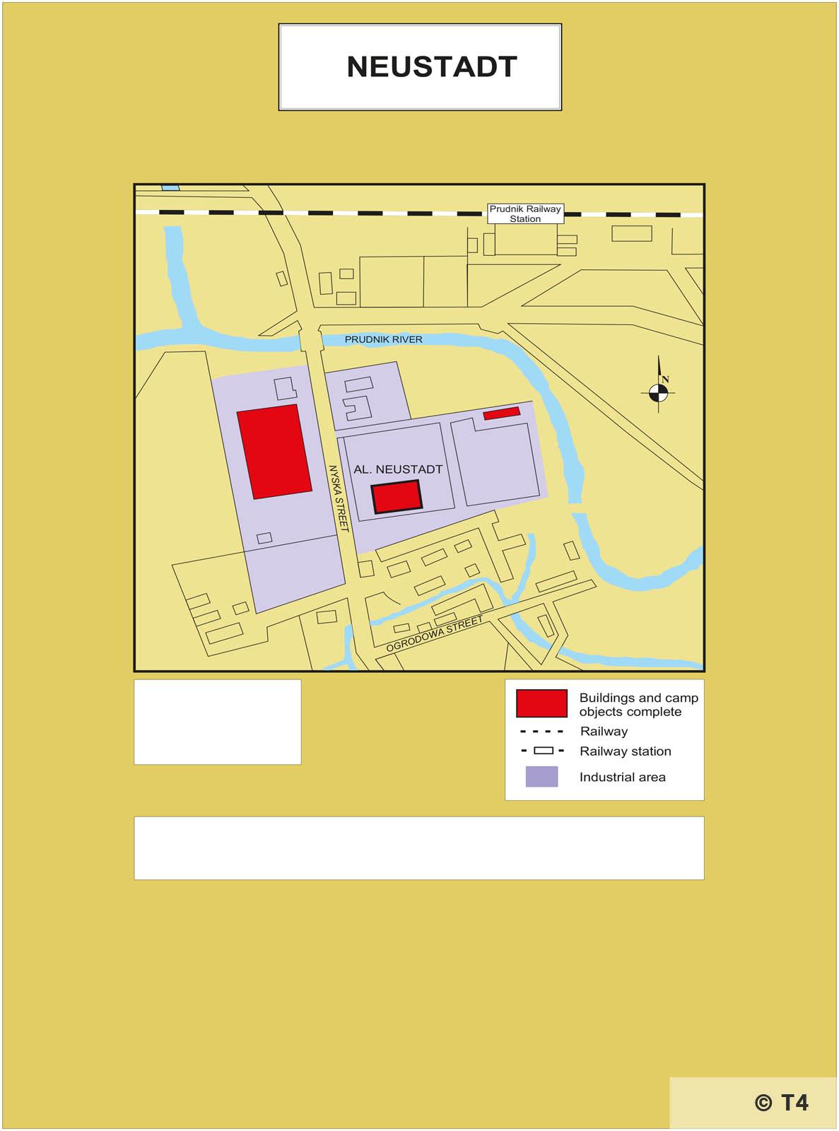 Map of Neustadt sub camp. T4