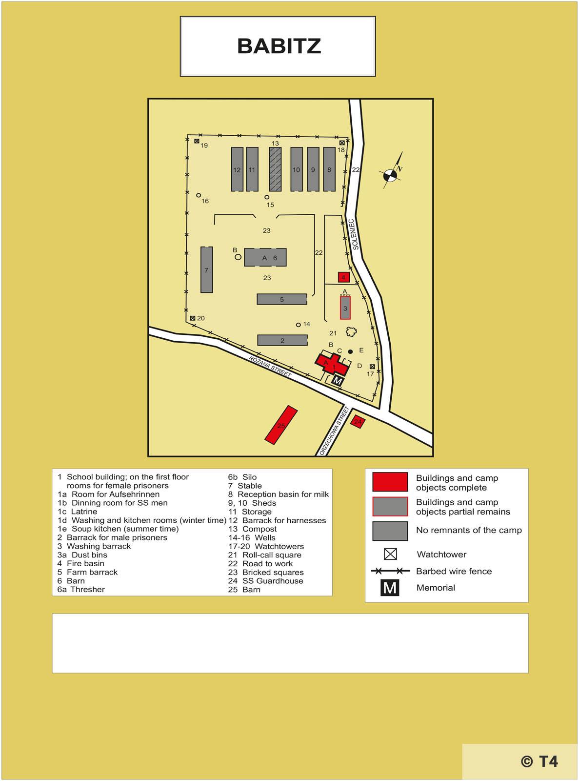 Map of Wirtschafsthof Babitz. T4
