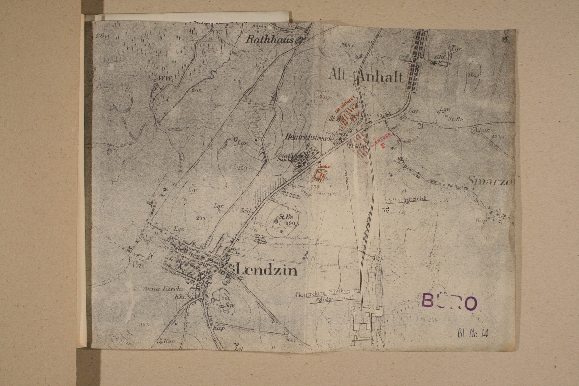 Map of camps in Ledziny. Archiwum Panstwowe w Katowicach Land Pl 12 120 708 15