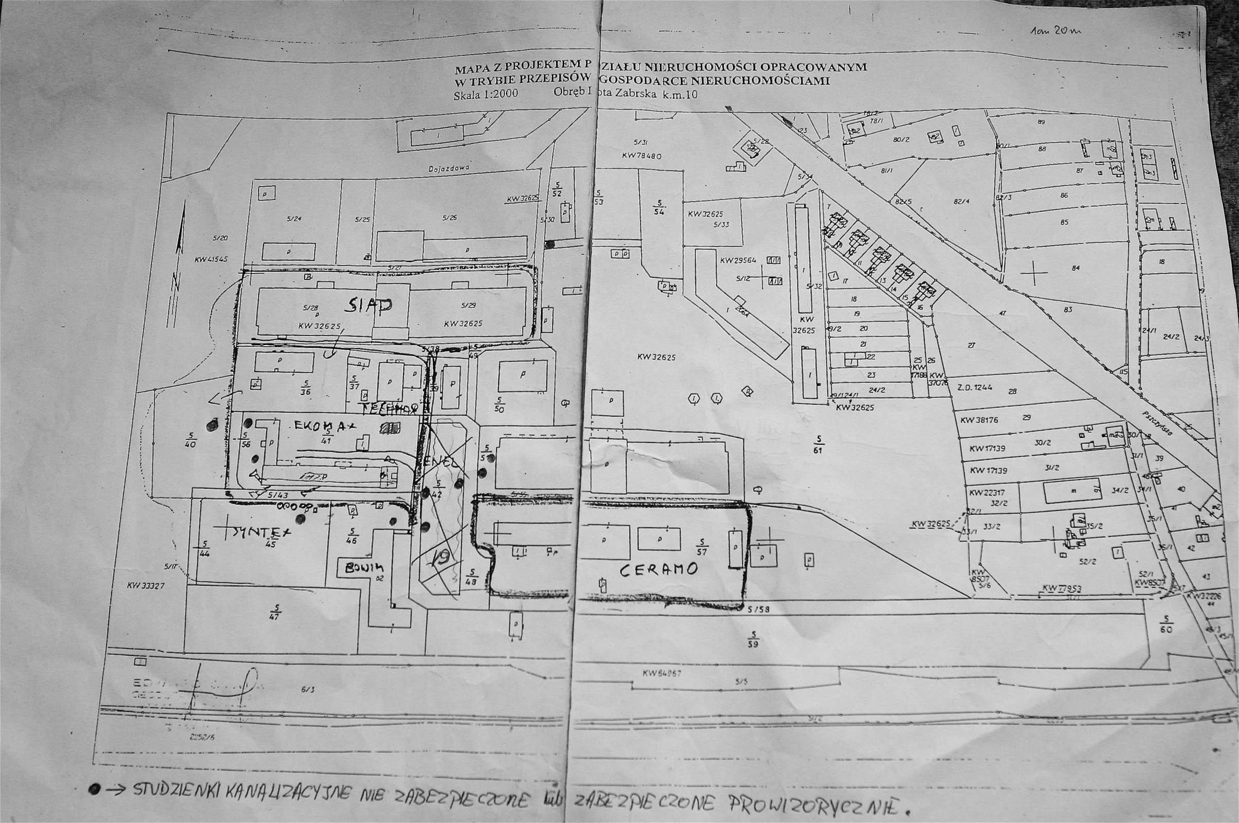 Map of former Deutsche Garusswerke post war. 5340