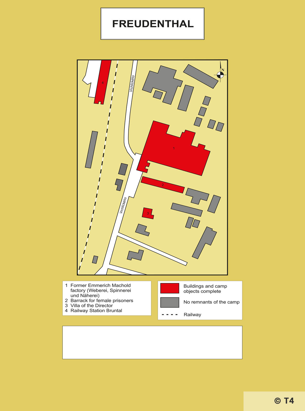 Map of former Freudenthal sub camp and Machold factory. T4.