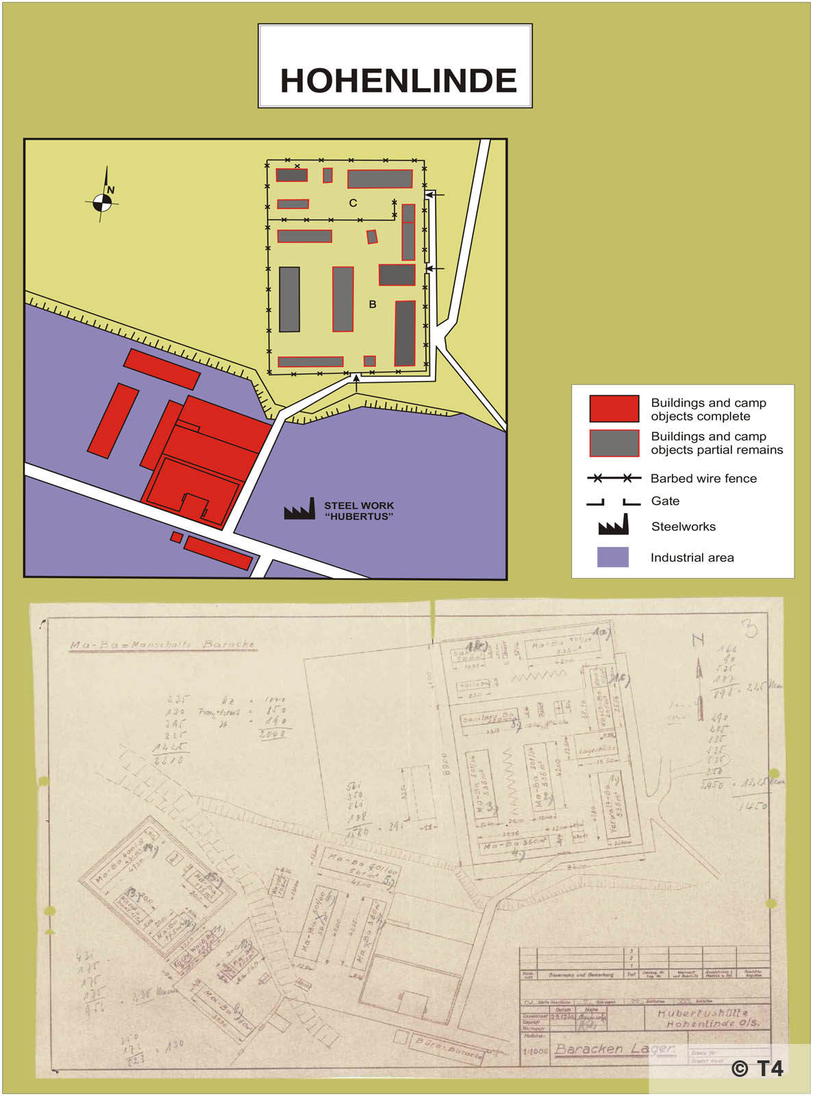 Map of sub camp Hohenlinde. T4