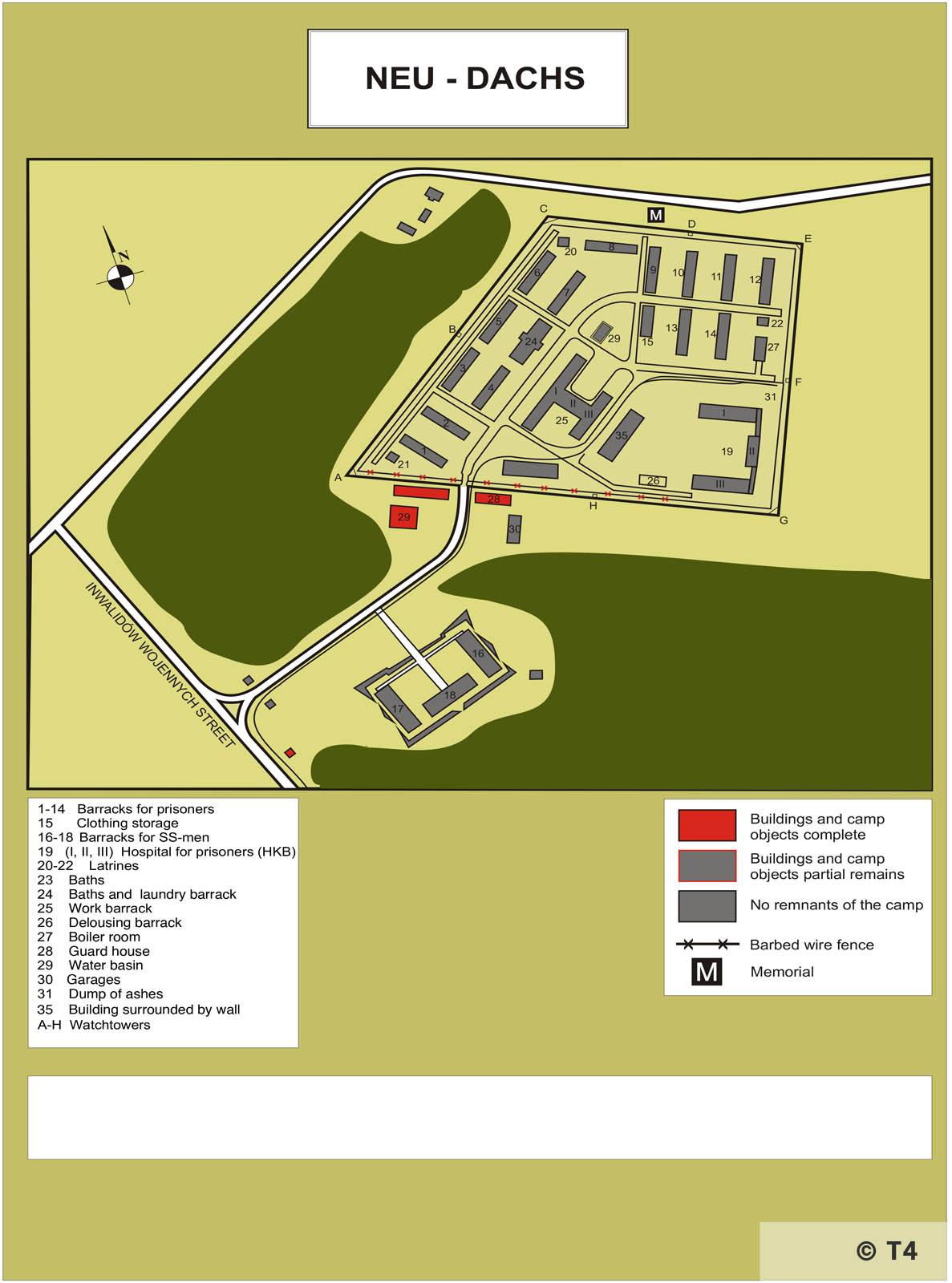 Map of sub camp Neu Dachs. T4