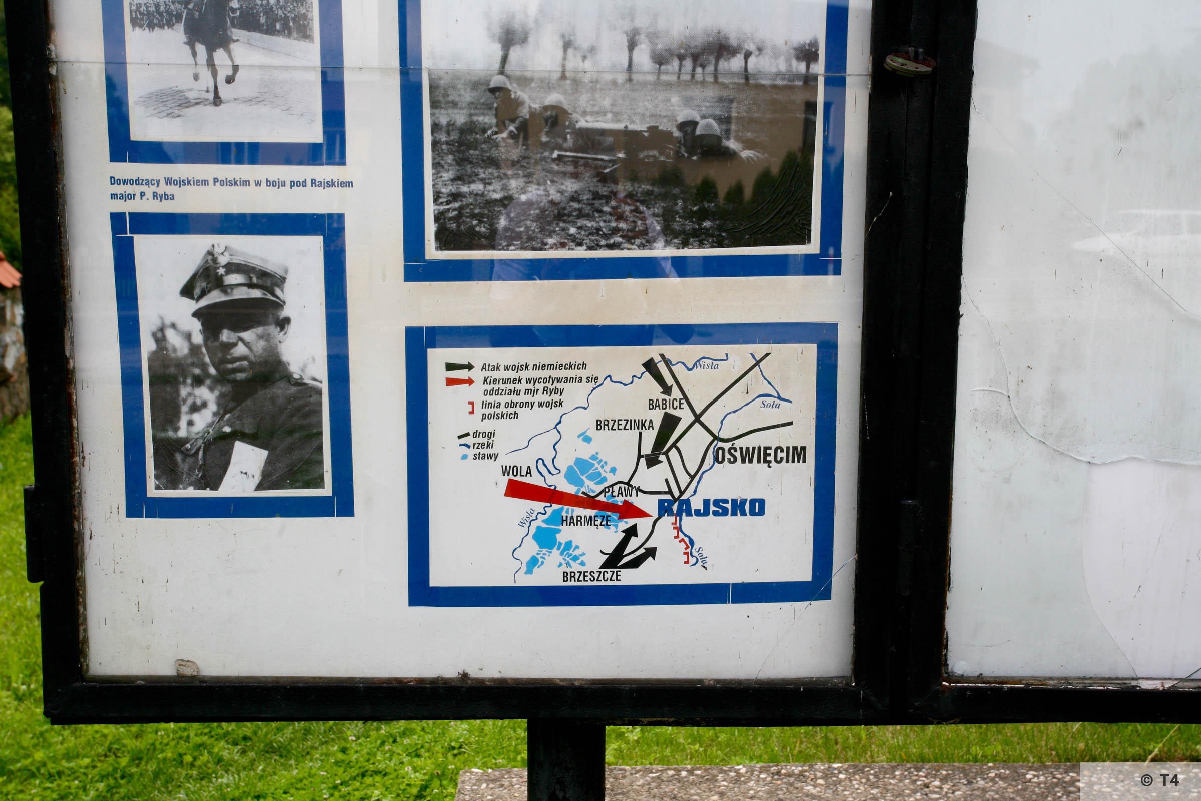 Memorial in Rajsko to the German attack on Poland in September 1939. 2006 T4 4945