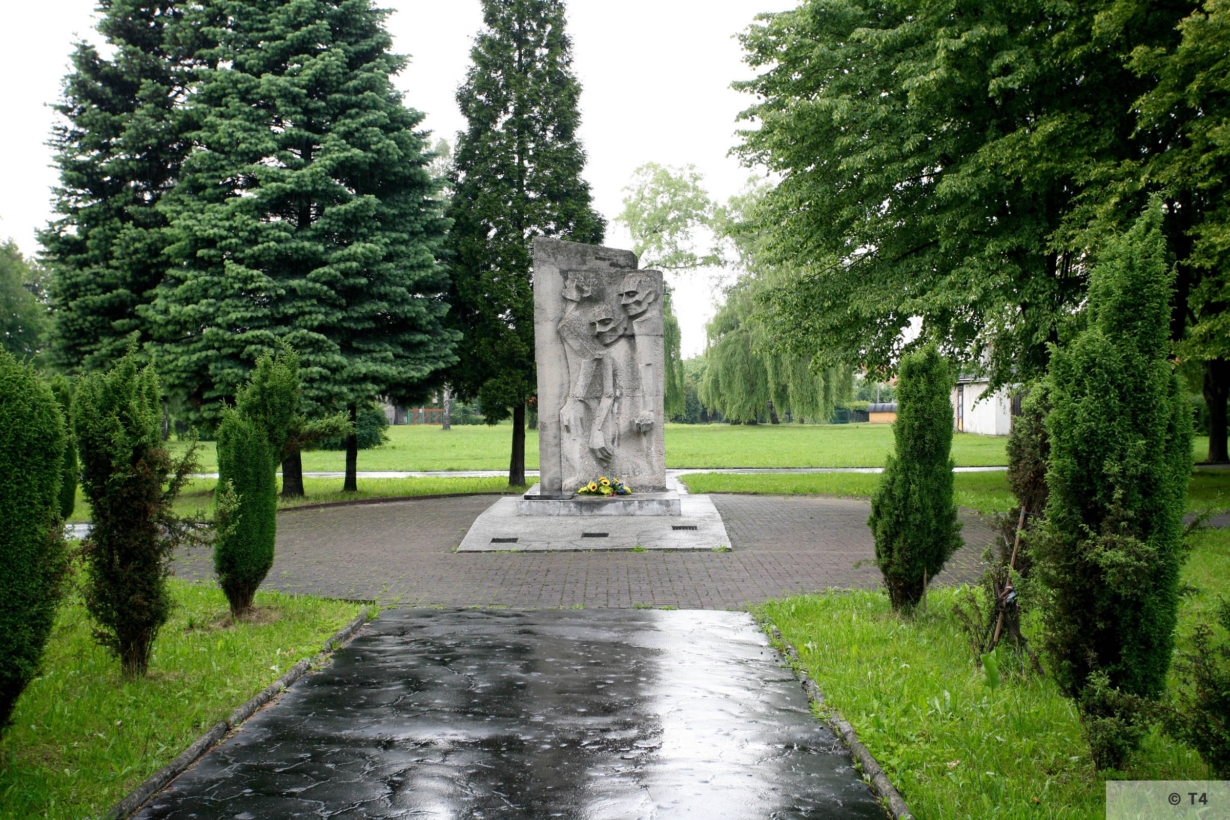 Memorial on the area of the former sub camp Jawischowitz. 2006 T4 4993