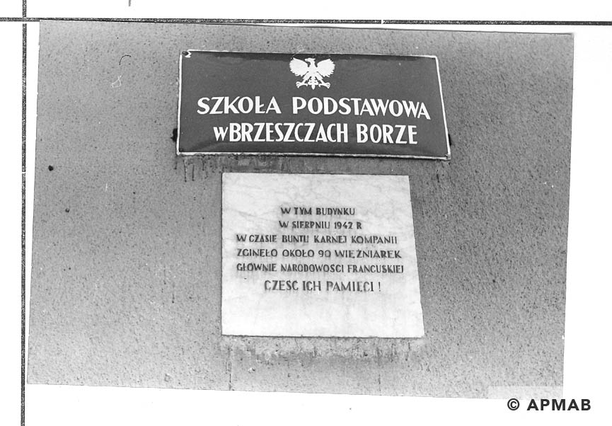 Memorial plaque of penal company for woman. 1968 APMAB 14057