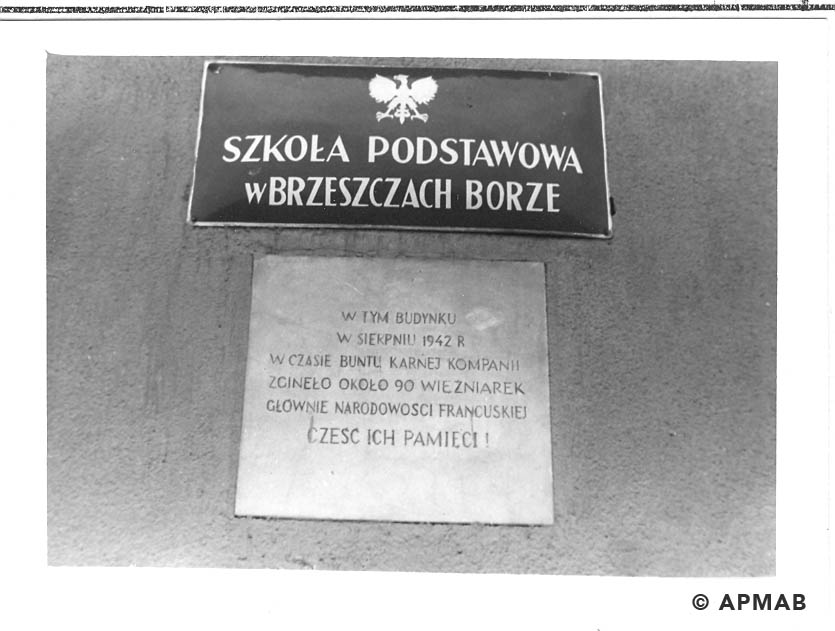 Memorial plaque of penal company for woman. 1993 APMAB 21747 2