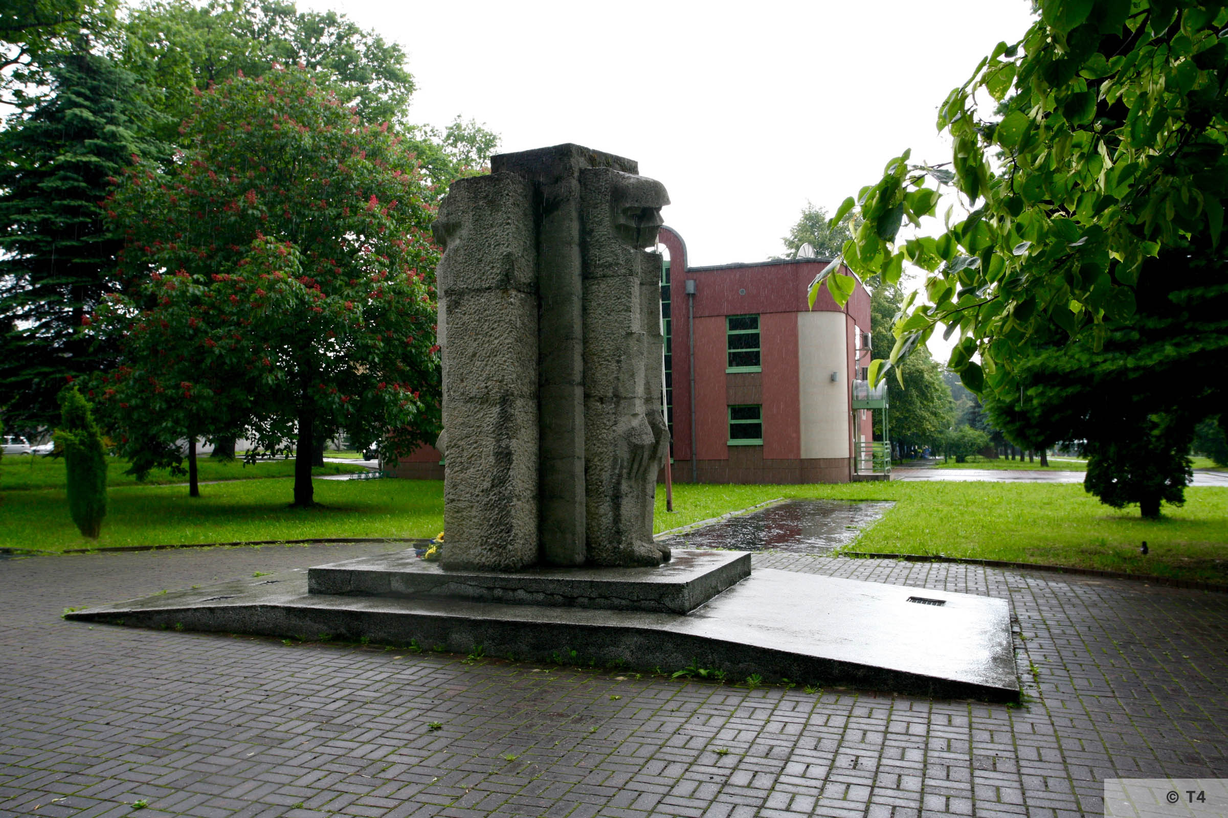 Monument on the area of the former sub camp Jawischowitz. 2006 T4 5029