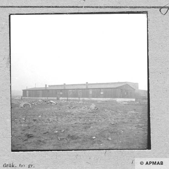 One of the barracks for prisoners. 1959 APMAB 6475