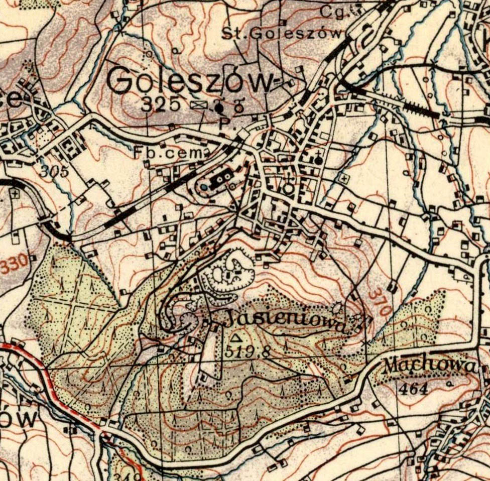 Ordinance Survey Map Goleszow 1934