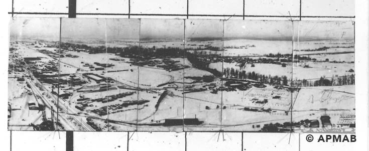 Panoramic photograph of the IG Farben area. 1941 1942 APMAB 20713 1