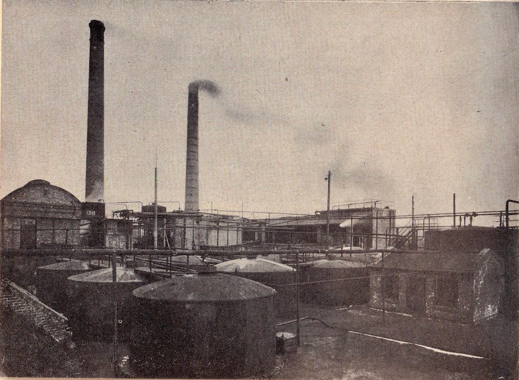 Photographs of Trzebinia refinery buildings 1964 1