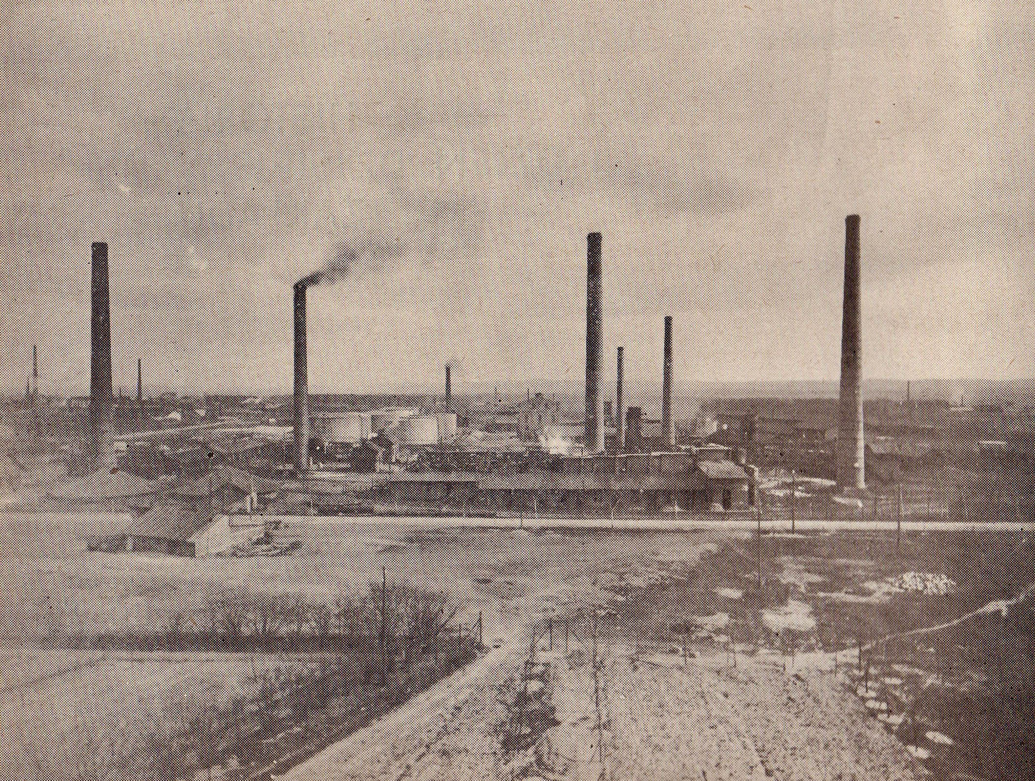 Photographs of Trzebinia refinery buildings 1964 2