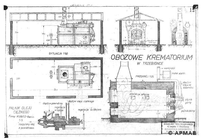 Plan of crematorium. APMAB 6671