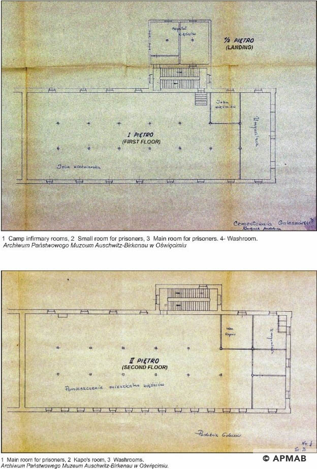 Plan of the prisoner warehouse Goleszow cement works. APMAB