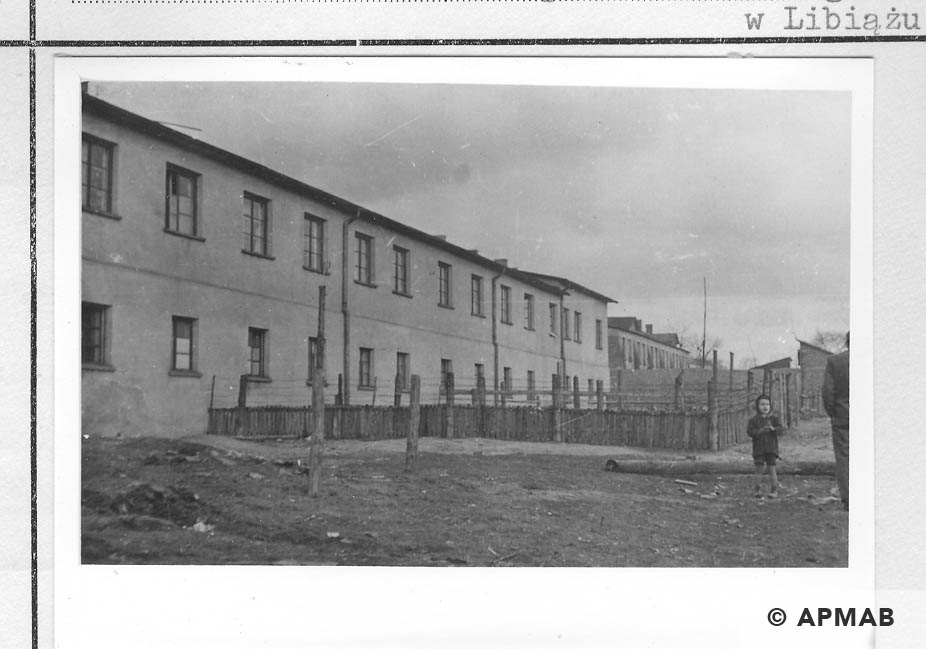 Post war residential barrack standing in the sub camp. 1959 APMAB 22270 4