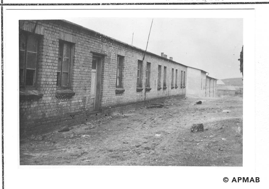 Post war residential barrack standing in the sub camp. 1959 APMAB 22270 5