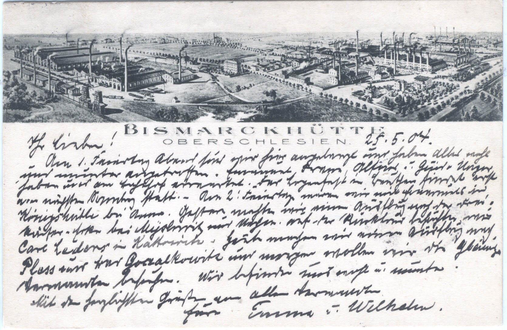 Postcard Bismarckhütte 1